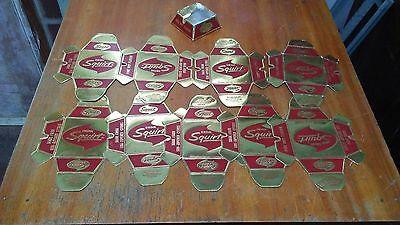 Lot of 10 Vintage 1962 Squirt Drink Soda Pop Foil Cigarette Ashtrays, 8 are New!