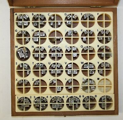 Kingsley Stamping Machine Co. Goudy Cursive Caps 145 Piece Type Box