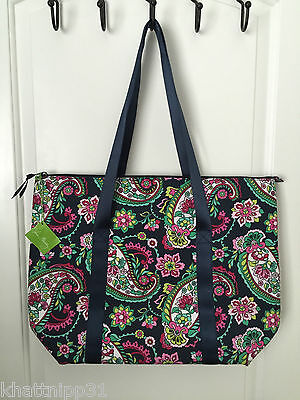 Vera Bradley Petal Blue Paisley Colorful Cooler Insulated Purse Tote Bag Nwt