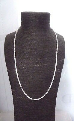 "Solid Sterling Silver.925 Square Byzantine 27 3/4"" Chain - 25 grams"