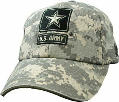 U.s Army Hat Embroidered Star Logo Military Ball Cap Acu Camouflage