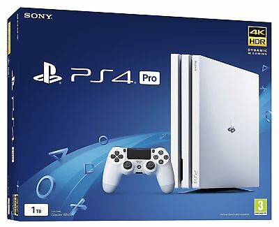 SONY WHITE PLAYSTATION PS4 PRO CONSOLE - 1TB  - NEW & SEALED -1 day listing