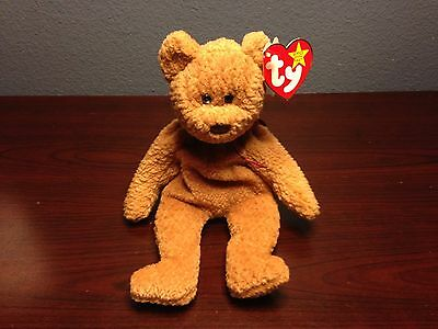 Beanie Babies Curly Bear Very Rare with Multiple Errors in New Condition