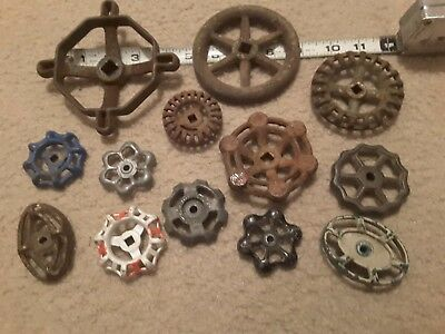 13 Vtg Faucet Handles Knobs Steampuck