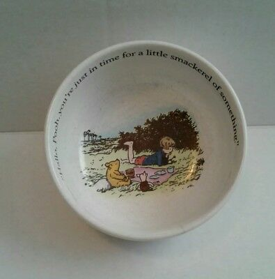 """REED and BARTON Winnie the Pooh Collector's CHILDS BOWL/""""Smackerel of something"""""""