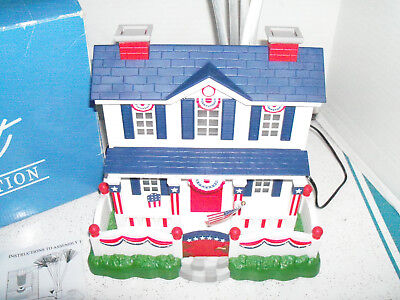 Avon Gift collection Patriotic lighted fiber optic house Colonial Americana