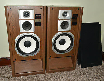 Pair Vintage Technics Super Bass Loading 3 Way Speaker System Model SP-2765