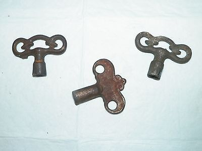 3 Antique Water Key Steam Heat Gas Valve Key Tool Steampunk