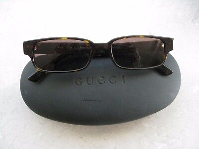 Vintage Authentic GUCCI Brown Tortoise Sunglasses with Hard Case