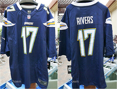 f570de15d NEW Mens Los Angeles Chargers Philip Rivers  17 Nike Navy Blue Game Jersey