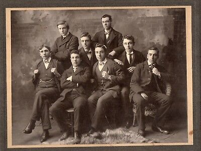 49073. Ca 1905 Cabinet Photo Handsome College Gents found in Rockland Maine ME