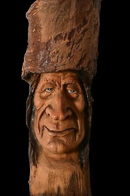 OOAK, Wood Spirit Carving, Art, Cabin Decor, Folk Art