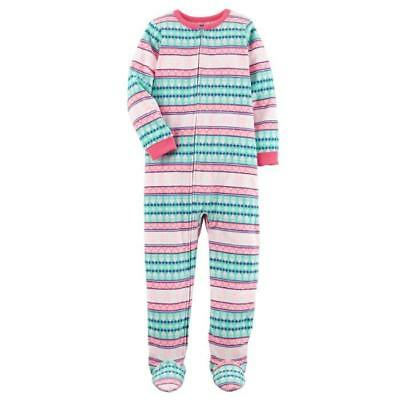 CARTER'S® Girls' 10, 12, 14 Fair Isle Footed Pajama 1-Pc. Fleece Sleeper NWT
