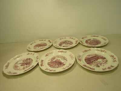 Lot of 6 Wedgewood New England State Plates Engraved