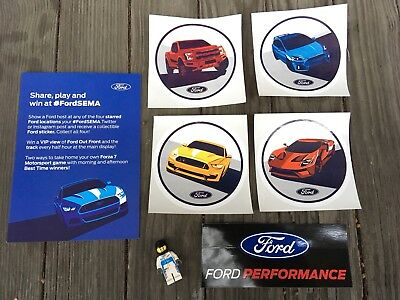 2017 SEMA Show Ford Performance Promo Decal Set with Card and Lego Guy Las Vegas