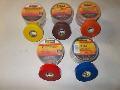"15 Roll Scotch-Professional-Grade-35-Vinyl-Electrical-Tape 3/4"" 66'"