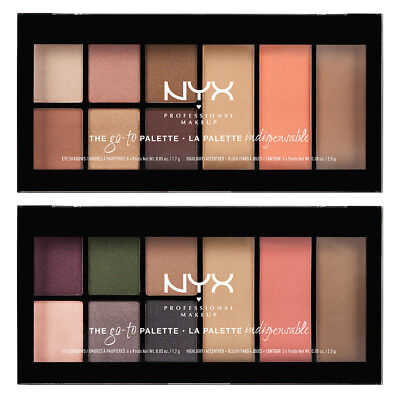 Nyx Professional Makeup Go-To Palette Shadow,blush,highlight And Contour