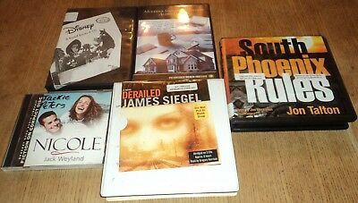 "FICTION / NON-FICTION ""AUDIO"" CD BOOKS - Lot of 6 Hours of Books on CD"