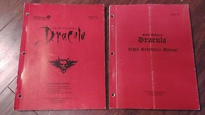 Williams Stoker's Dracula pinball arcade operations and Schematic manuals
