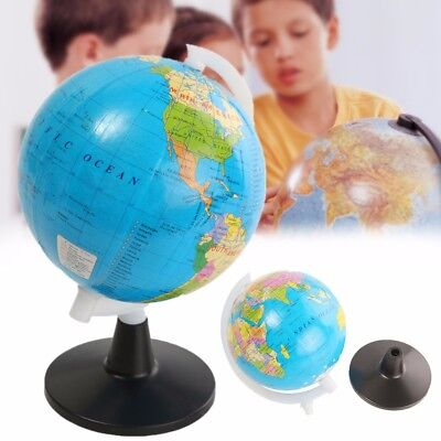 Mini World Globe Atlas Map With Swivel Stand Geography Education Toy Home Decor