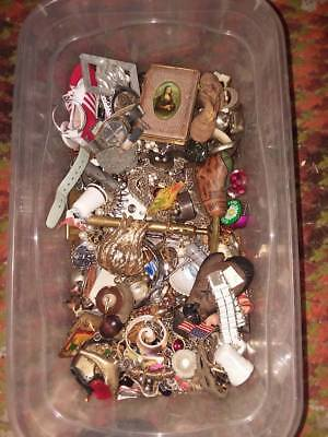 Junk Drawer Lot, Jewelry ,rings, Watches, Costume ,pins , Etc