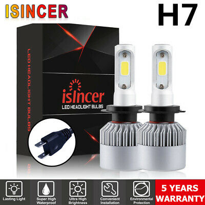 Pair H7 LED HEADLIGHT CREE 688W 168000LM COB FOG LIGHT BULB HIGH BEAM KIT 6500K