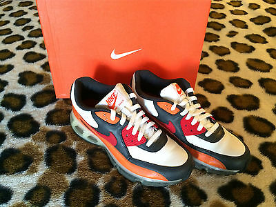 PRE-OWNED Nike Air Max 90 360 SZ8 Orng blaze/varsity red/ anthracite 315858-861
