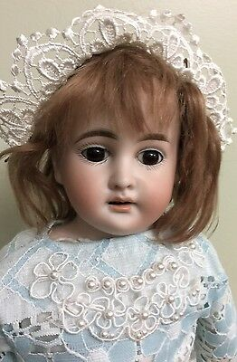 """Antique Bisque Doll Cuno & Otto Dressel On A Kid Body 17.5"""""""