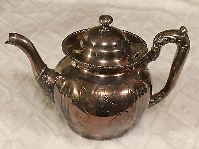 Wm A Rogers Quadruple Plate New York Teapot Coffee Pot #56