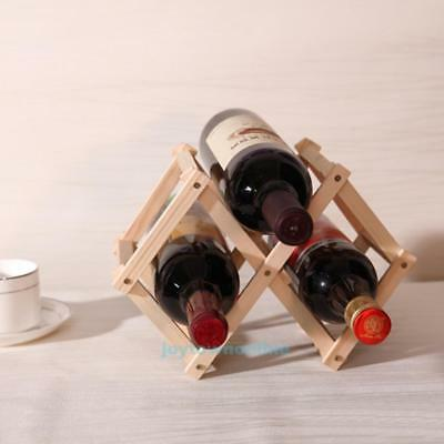 Adjustable 3 Wooden Wine Rack Bottle Holder Kitchen Organizer Display Shelf Xmas