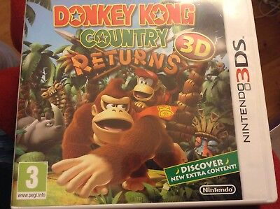Donkey Kong Country Returns 3D (Nintendo 3DS, 2013) - UK Version Used Excellent