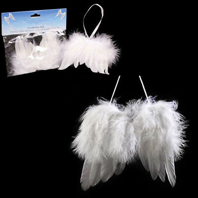 Vintage Feather Angel Wings Hanging Christmas Tree Wedding Ornaments Decorations