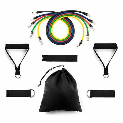 11pc Exercise Resistance Bands Set, Fitness Stretch Bands With Free Carry Case