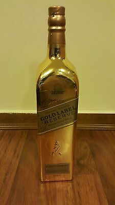 Johnnie Walker Scotch Whisky World Map Gold Bullion! 1L Bottle! Old Duty Free!