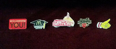 (5) Enamel McDonald's Collectable Pin Lot