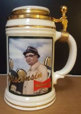 """Budweiser """"VINCE LOMBARDI"""" NFL Legend Wisconsin LTD Edition Stein Numbered!"""