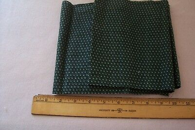 Vtg Antique 19th 1800's Overdyed Minty Green Fabric Scrap  QUILT DOLL
