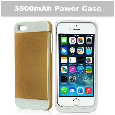 Gold 3500mAh External Backup Battery Charger Power case For Apple iphone 5 5S UK