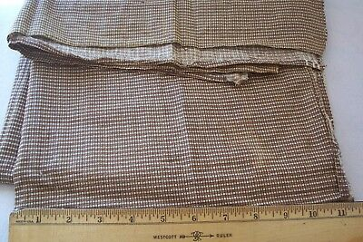 Vtg Antique 19th 1800's Brown Fabric TINY SQUARES  QUILT DOLL