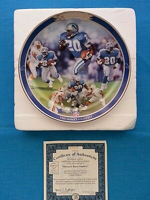"Barry  Sanders              ""the  Game's  Greatest""    Bradford  Exchange  Plate"