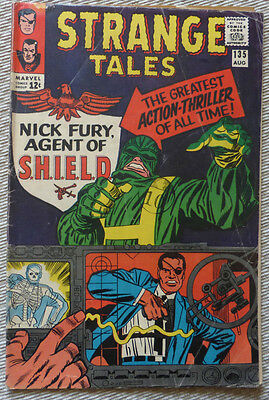 STRANGE TALES #135, 1965. 1st appearance of Nick Fury as Agent of SHIELD