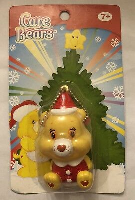 New In Box Care Bears Funshine Bear Santa  Light Up Christmas Ornament Keychain