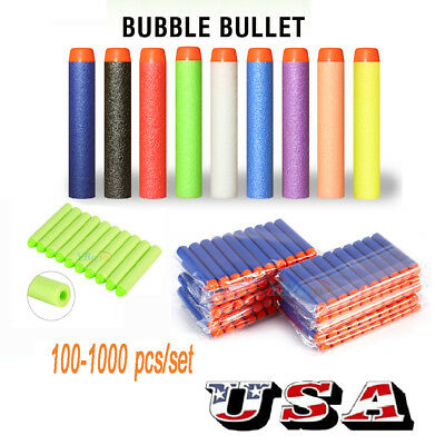 100-1000Pcs Round Head Bullet Darts Blasters For NERF N-Strike Refill Kids Toy