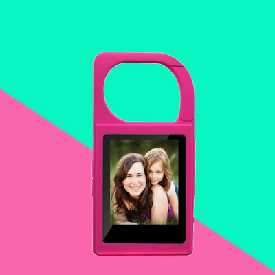 Eclipse 4GB Keychain MP3 player Expandable microSD card Pink