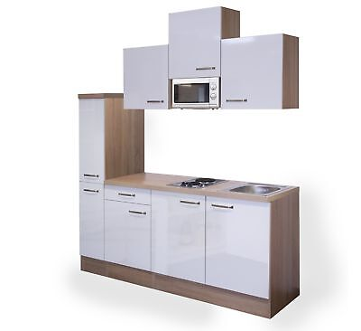 minik che venedig singlek che mit glaskeramikkochfeld k hlschrank 190 cm weiss eur 969 00. Black Bedroom Furniture Sets. Home Design Ideas