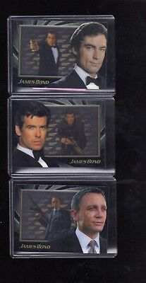 James Bond 50th Anniversary series 2 Shadowbox S4,S5 & S6 cards