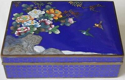 Japanese Fabulous Quality Cloisonne Box Cpo Perfect