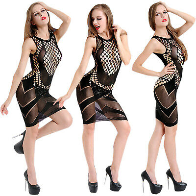 Sexy Transparent Hollow Open Crotch Body Stockings Halter Jacquard Bodysuits SUP