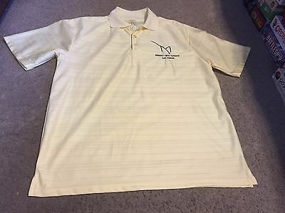 Nice men's size L XL M resort spa casino Las Vegas light yellow polo shirt