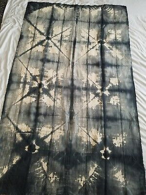 """Authentic African Handwoven Bambara Mud Cloth Fabric From Mali Size 65"""" x 40"""""""